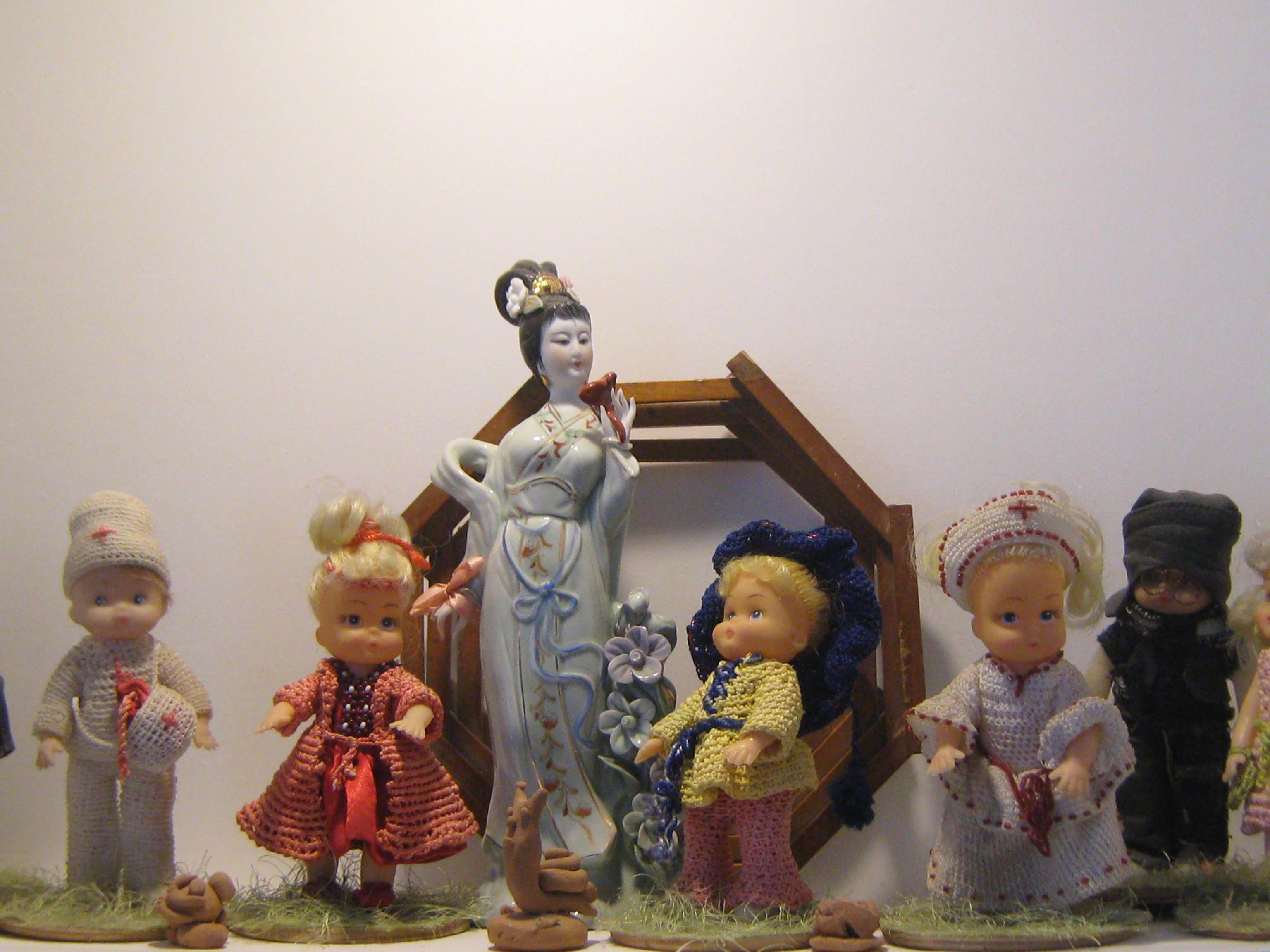 макраме кукла дети