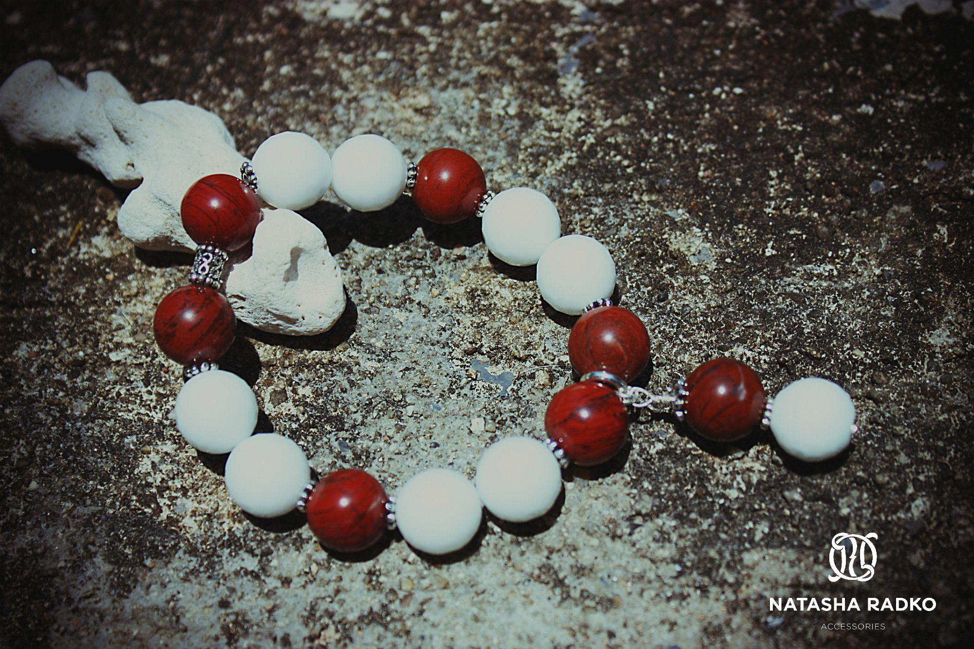 подарок браслет яшма агат украшение красная серебро камни натуральные