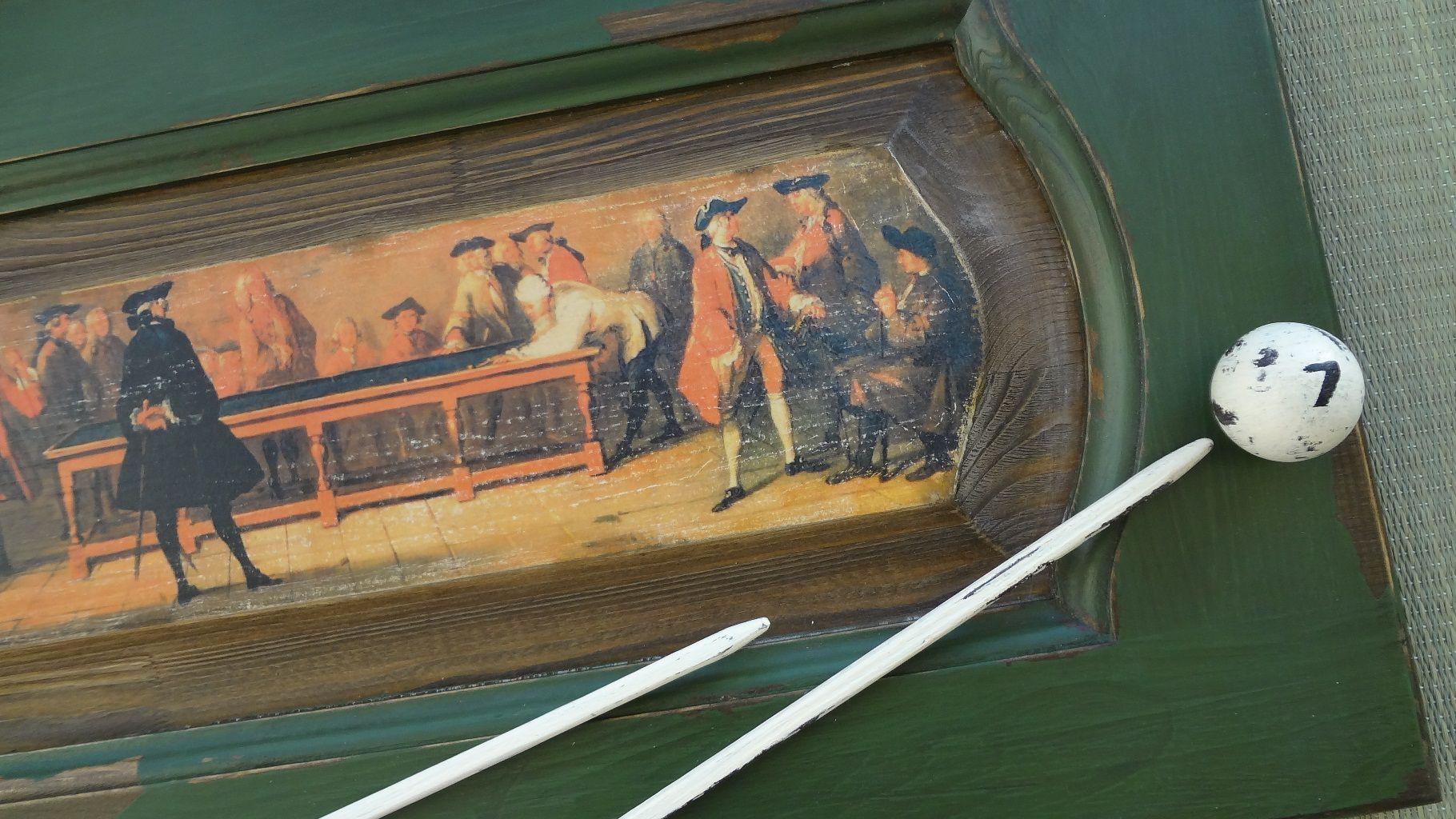 старинная старое бильярд кабинета дерево панно ручная для работа мужчине картина подарок