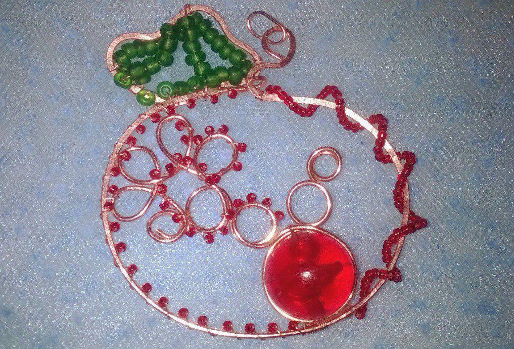 кулон handmade хэндмейд подвеска украшенияизпроволоки кулонизпроволоки украшенияручнойработы wirewrap медныйкулон меднаяподвеска бижутерия ручнаяработа