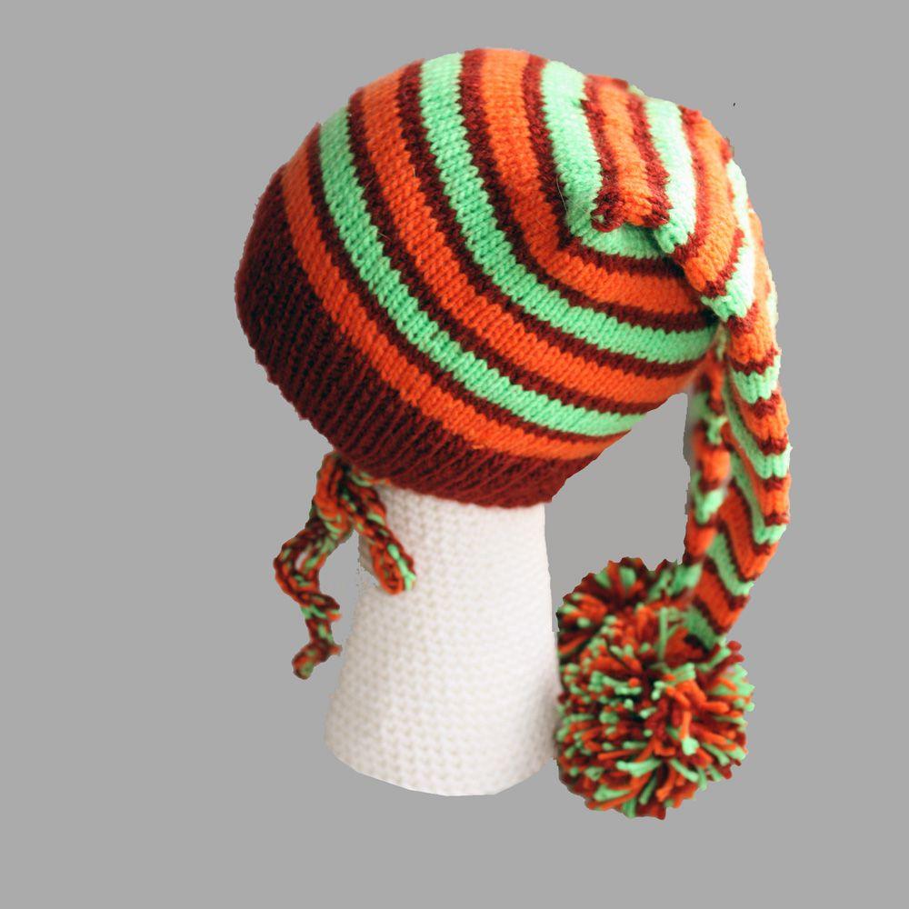 цветная колпачок гном помпон полосы помпонами аксессуары ручная детские детям шапки продажа купить шапочка работа с