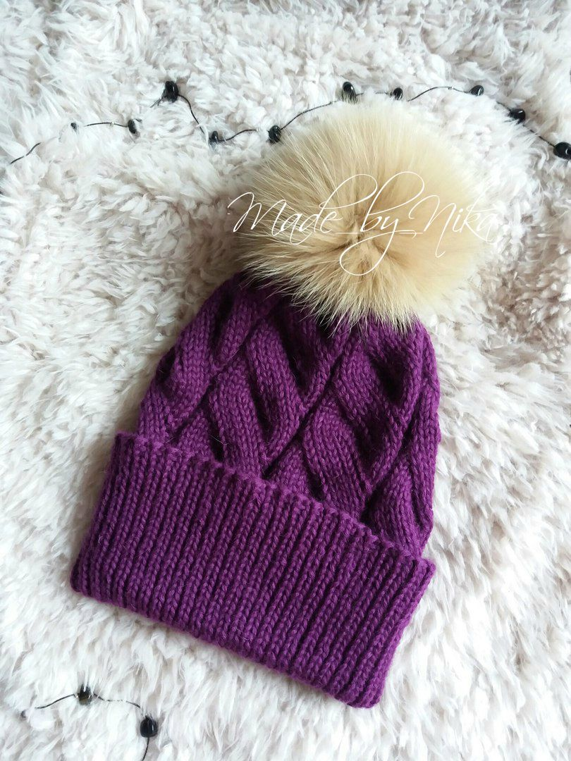 спомпоном вязание длядевушки шапка головныеуборы аксессуар назаказ дляженщины спицами