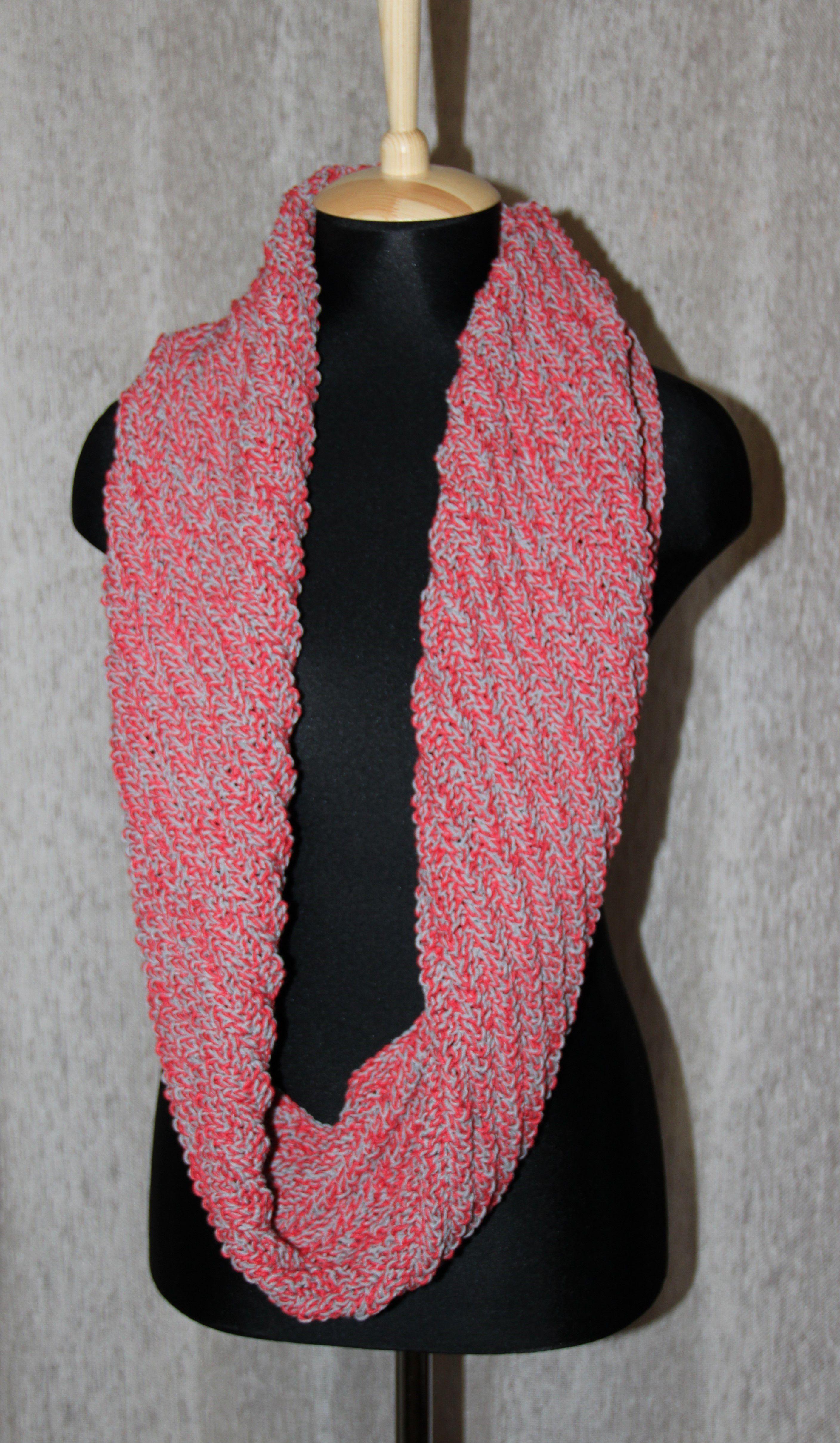 мега круговой снуд вязка ручная шарф