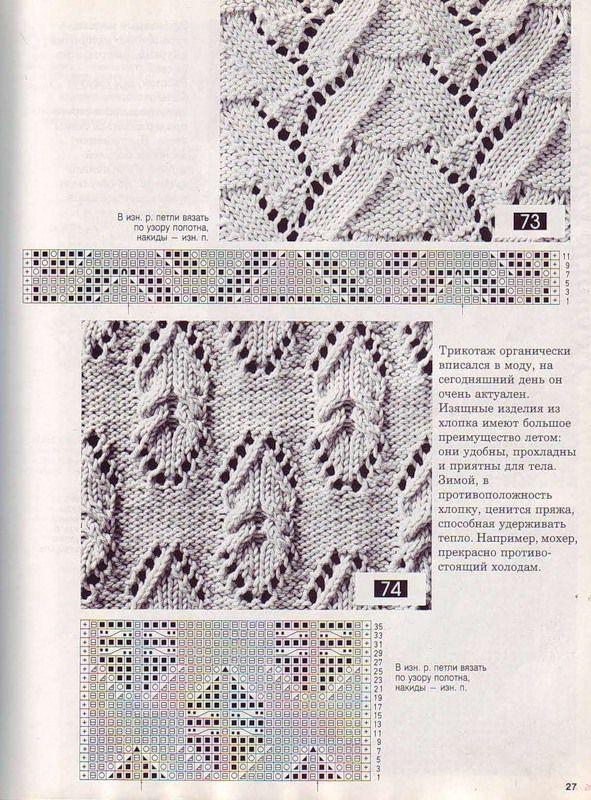 Объемные узоры спицами 8