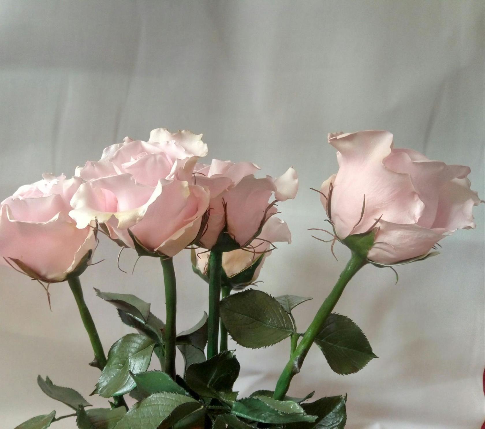 работа фоамиран ручная роза