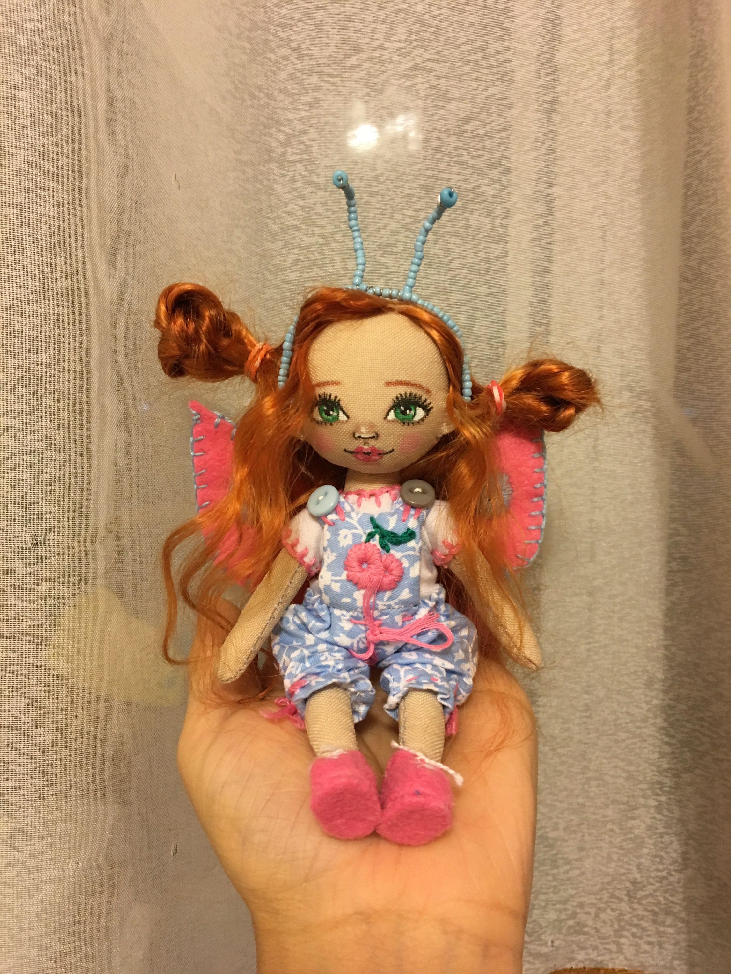 куколка handmade dolls кукларучнойработы куклавподарок бабочка подарки куклаизткани handmadedoll хендмейд своимируками кукла textildoll doll подарок