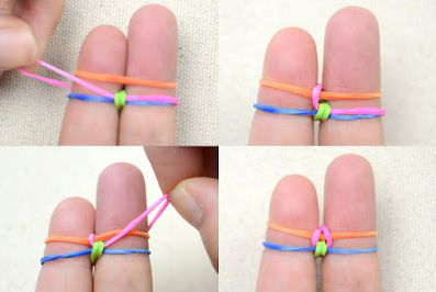 Как сделать браслет из резинок 4