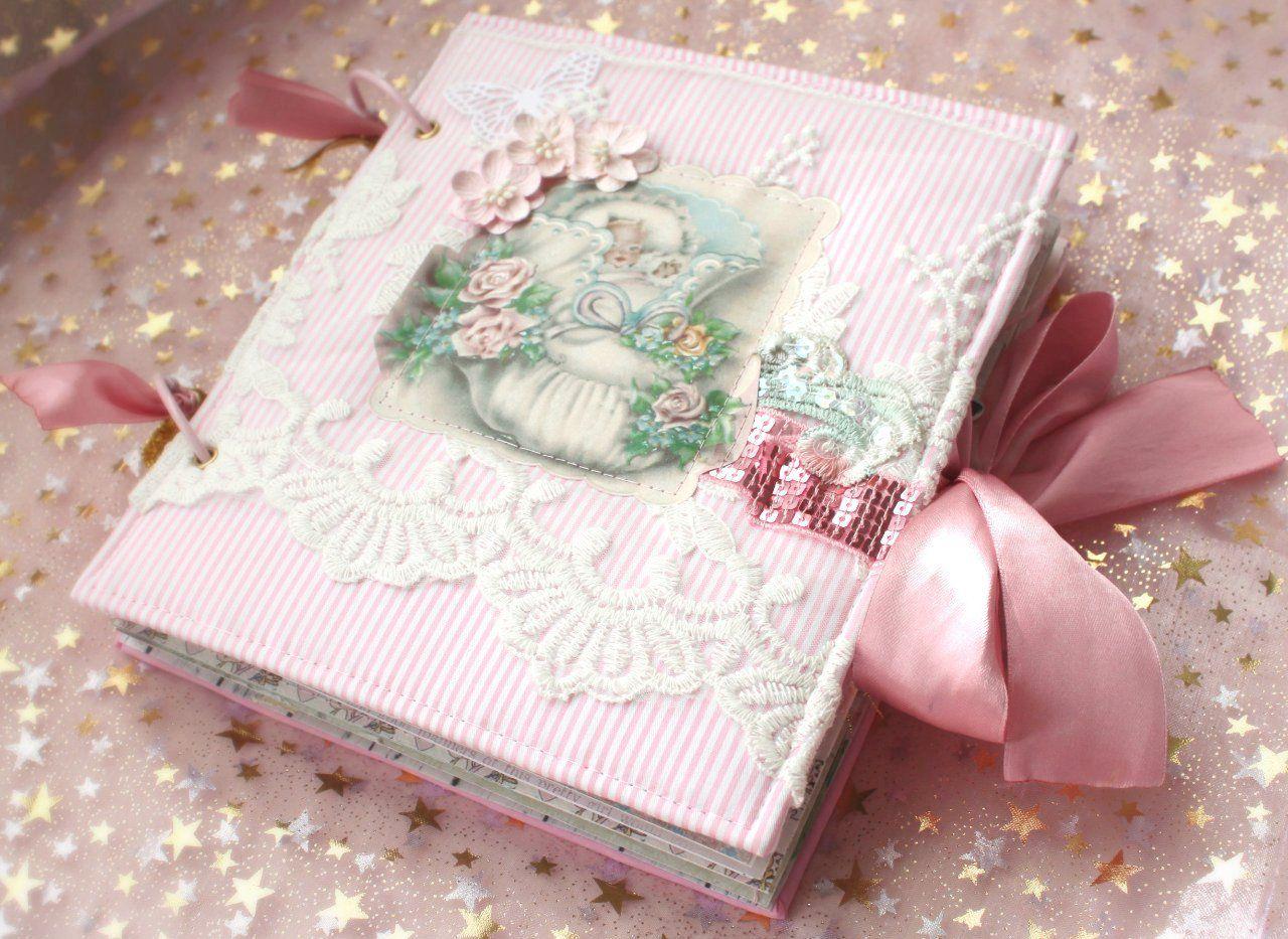 ручнаяработа альбомдетский babybok скрапбукинг scrapbook фотоальбом подарокдлядевочки