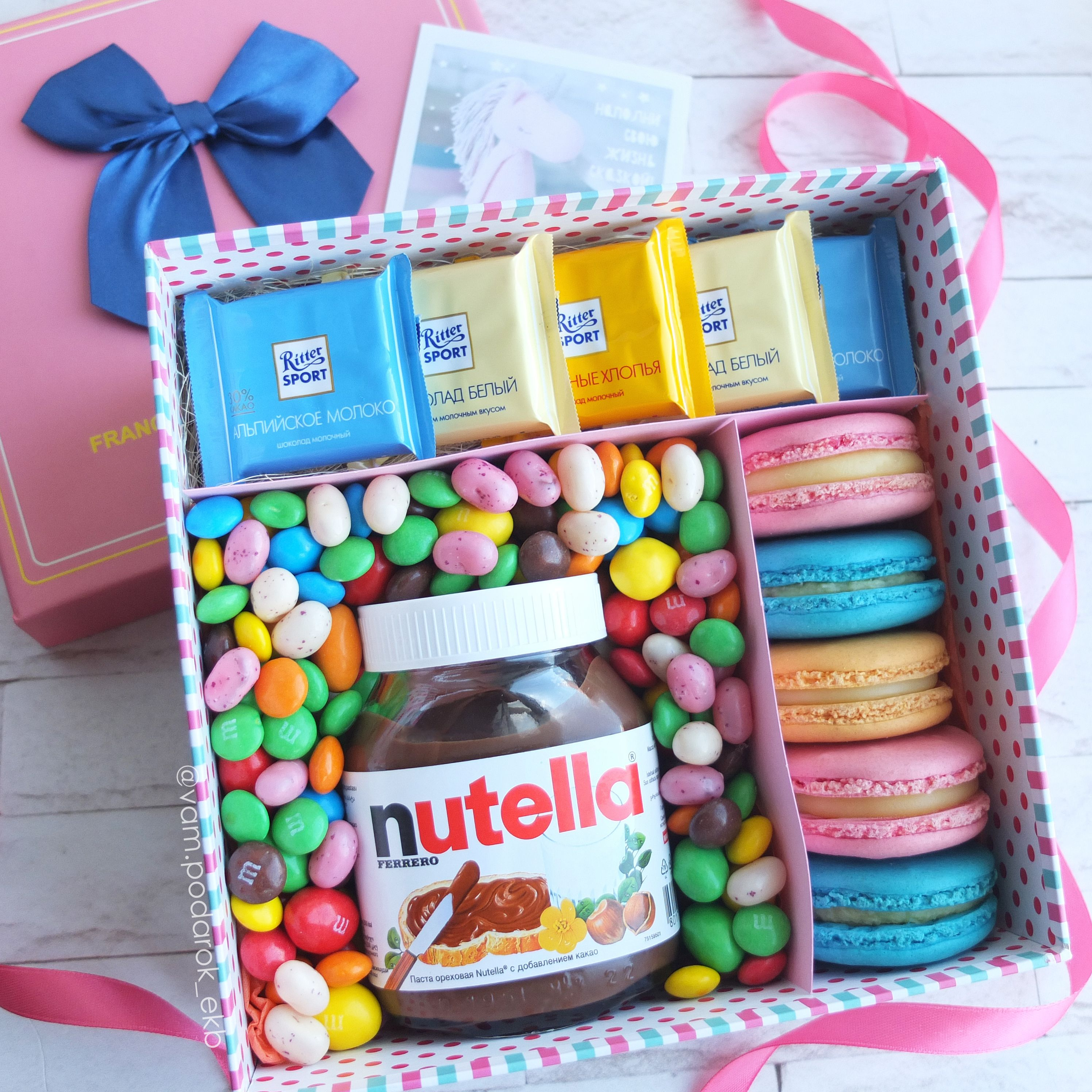 девушке идеяподарка сладости подарок подруге