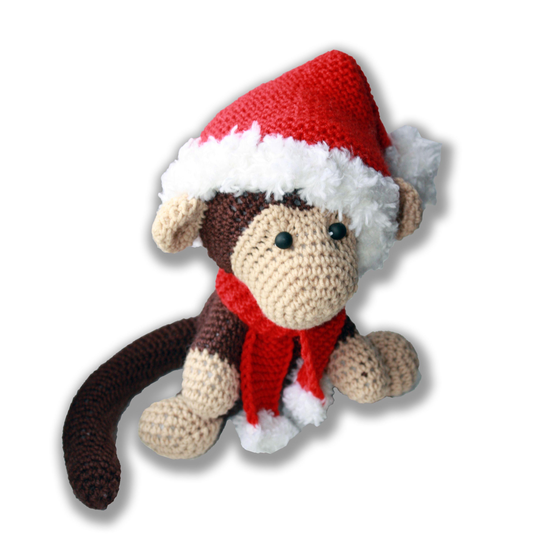 авторская амигуруми развивающие продаж игрушки коричневая новогодняя сказочная декор год новый интерьер сказка шарф помпон вязаные кукла работа ручная детям животные 2016 подарок обезьяна купить комнаты детской колпак вязаная