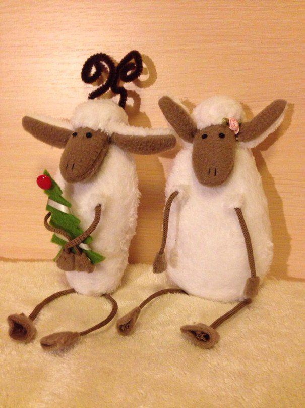 овечки игрушки декор интерьер ручнаяработа