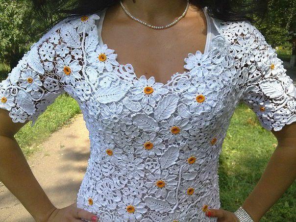 крючком женское вязаная одежда белое платье вязаное летнее ирландское кружево кружевное женская