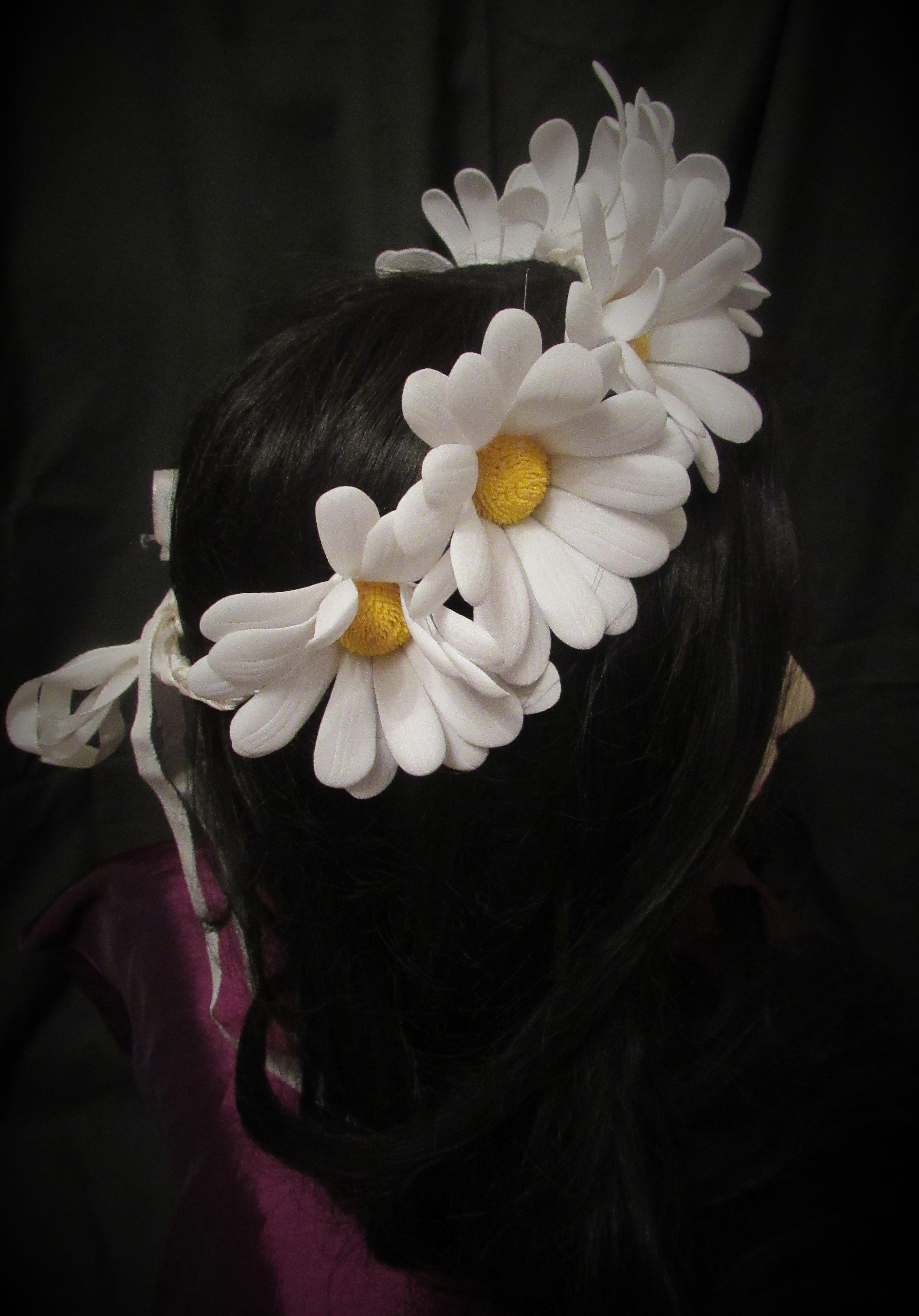 фоамирана ромашки из венок цветы