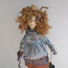 handmade ручная тильда красивые работа каркасная надо гульнары кукла куклы розовый tilda коллекционная коллекционнаякукла куклыгульнары голубой купить серый текстильнаякукла подарок