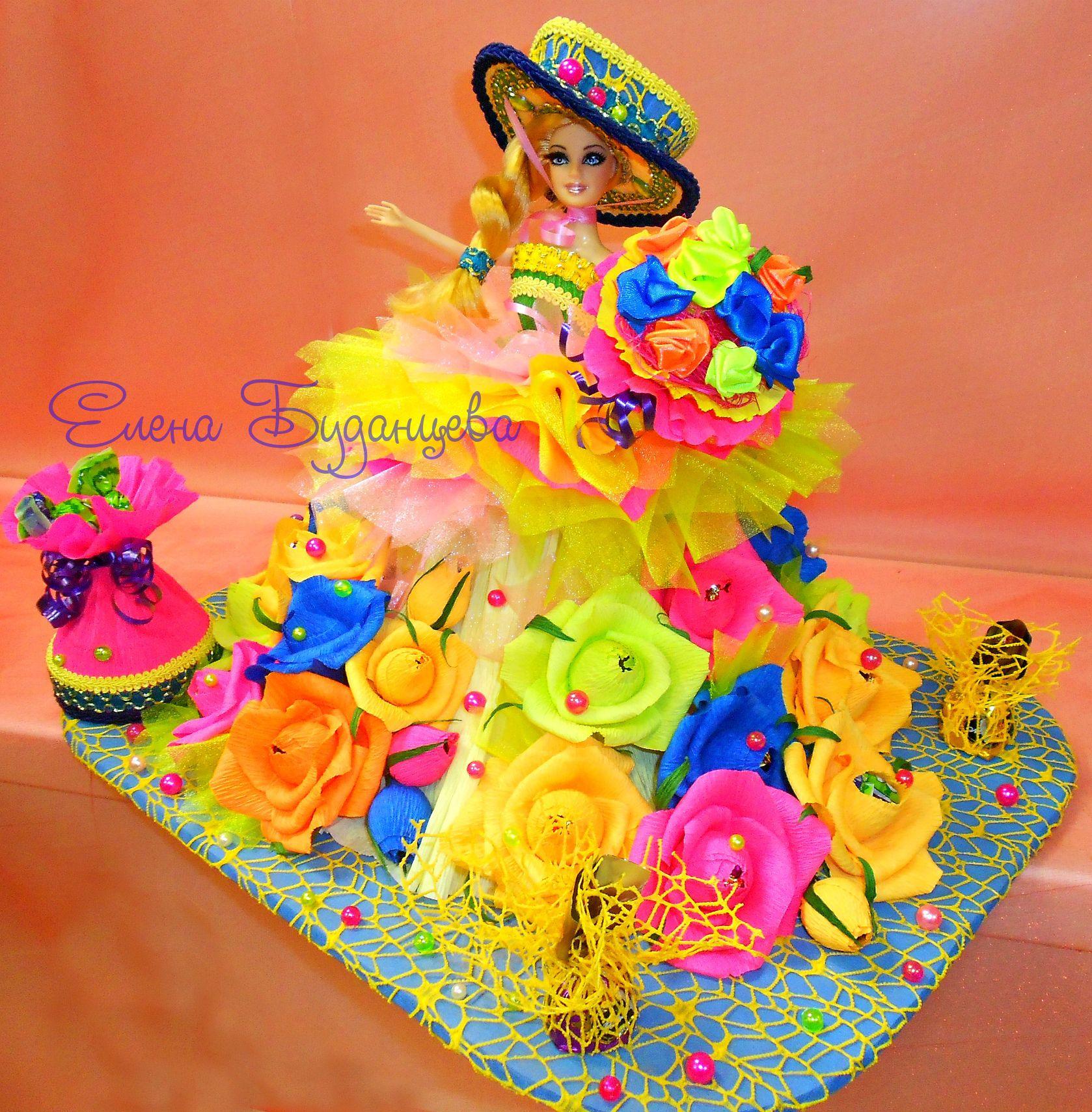 сладкий оригинальный конфет игрушка кукла букет новыйгод цветы подарок