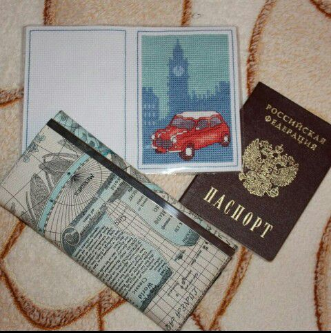 вышивкакрестом паспорт вышивка обложка