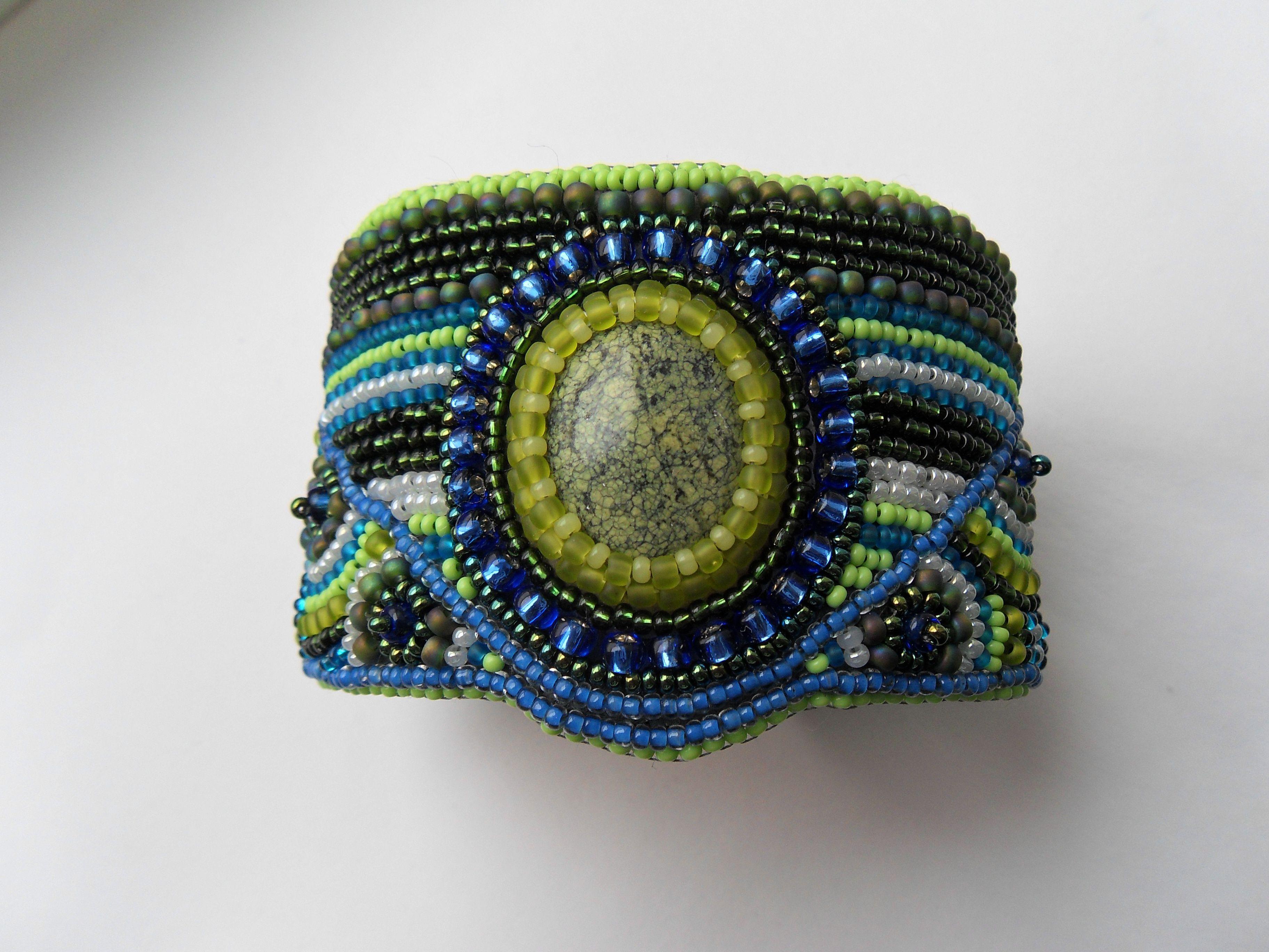 змеевик вышивкабисером аленаэир украшение купитьбраслет купить браслет подарок