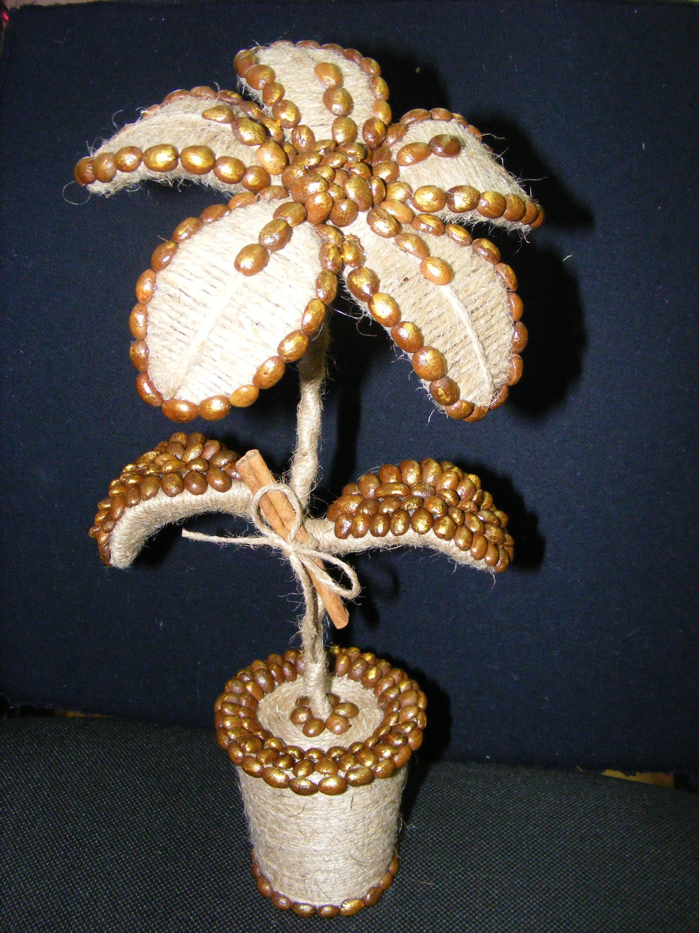 кофе цветок подарок топиарий