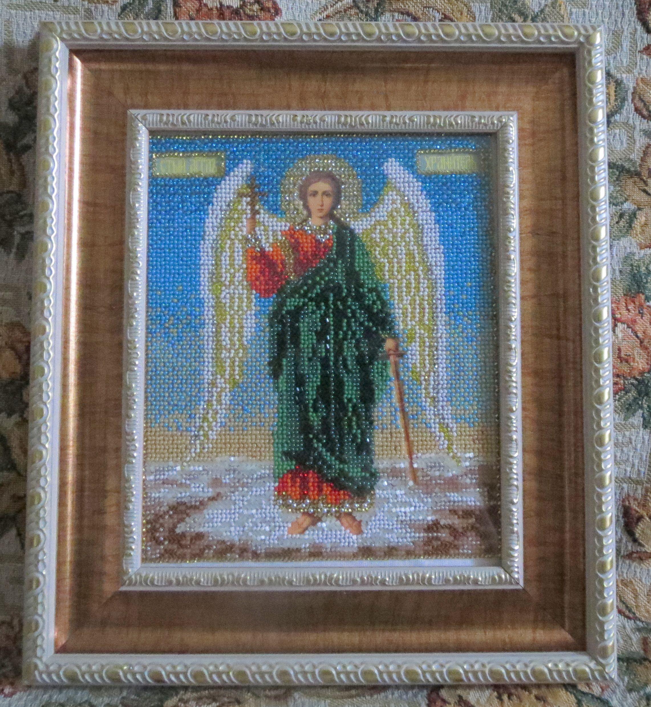 из бисера икона хранитель ангел