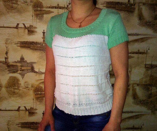 летняя женская зелёный футболка одежда белый