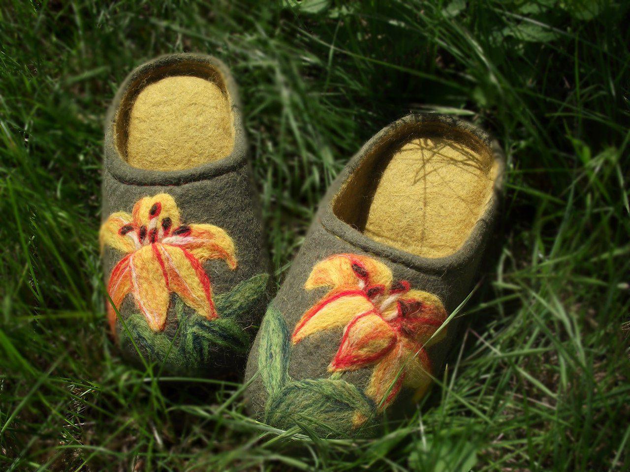 эко валяная домашняя шерсть обувь