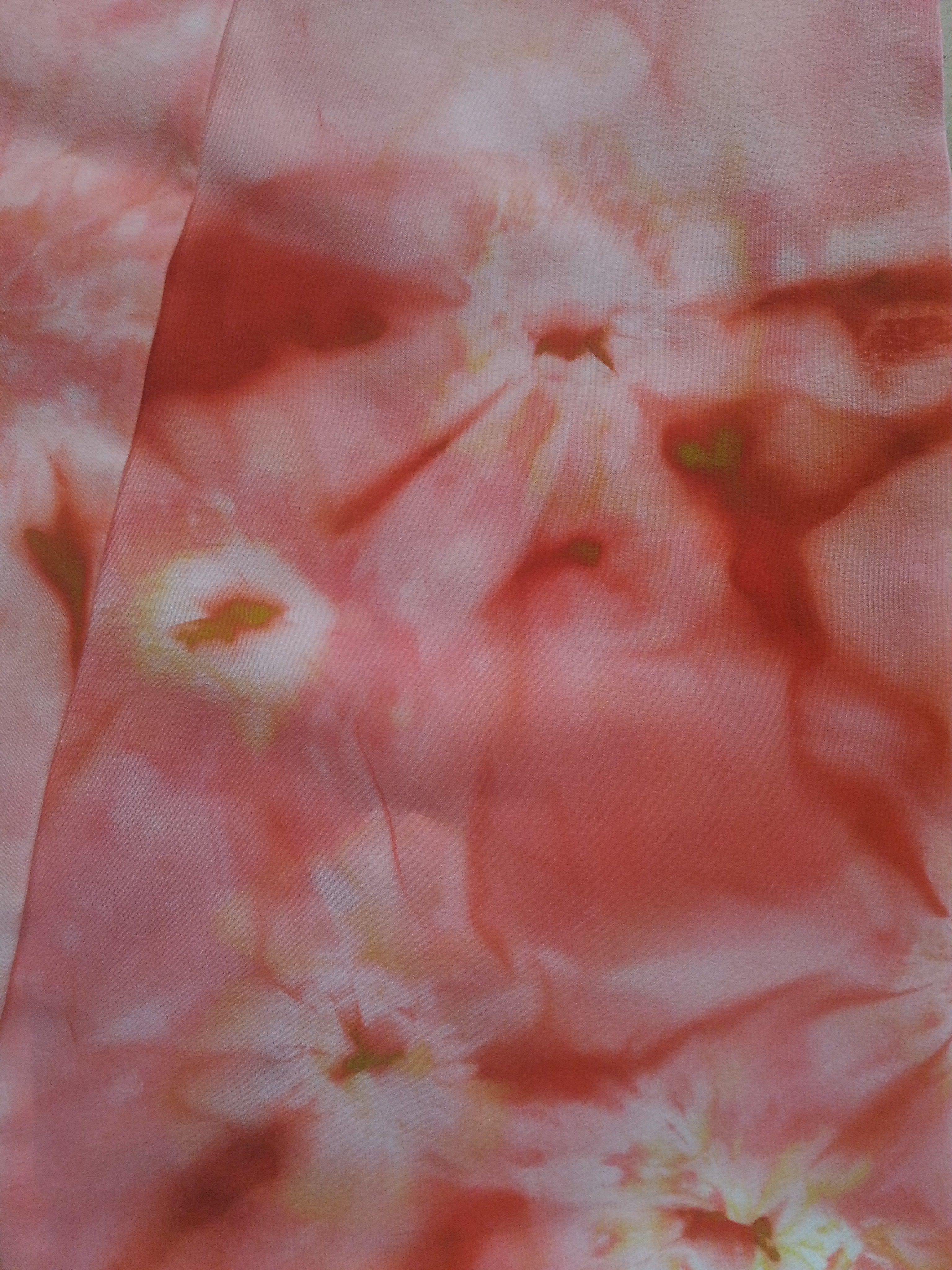 весенний женский шарф узкий шёлковый