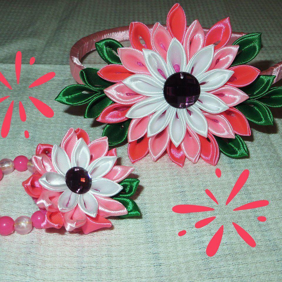 канзаши аксессуары ободок handmade