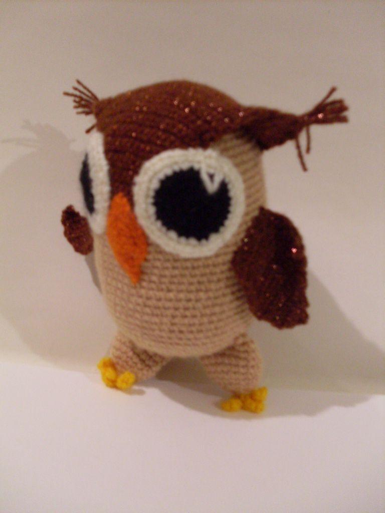 игрушка сова мягкая вязаная совенок крючком
