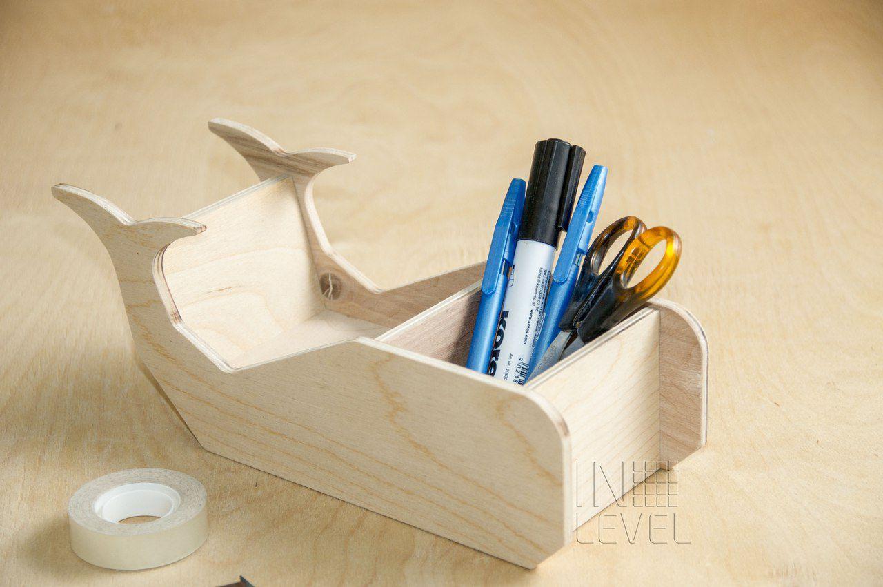 китик декор канцелярия из_дерева подставка для кит канцелярских деревянный органайзер дерево офисный