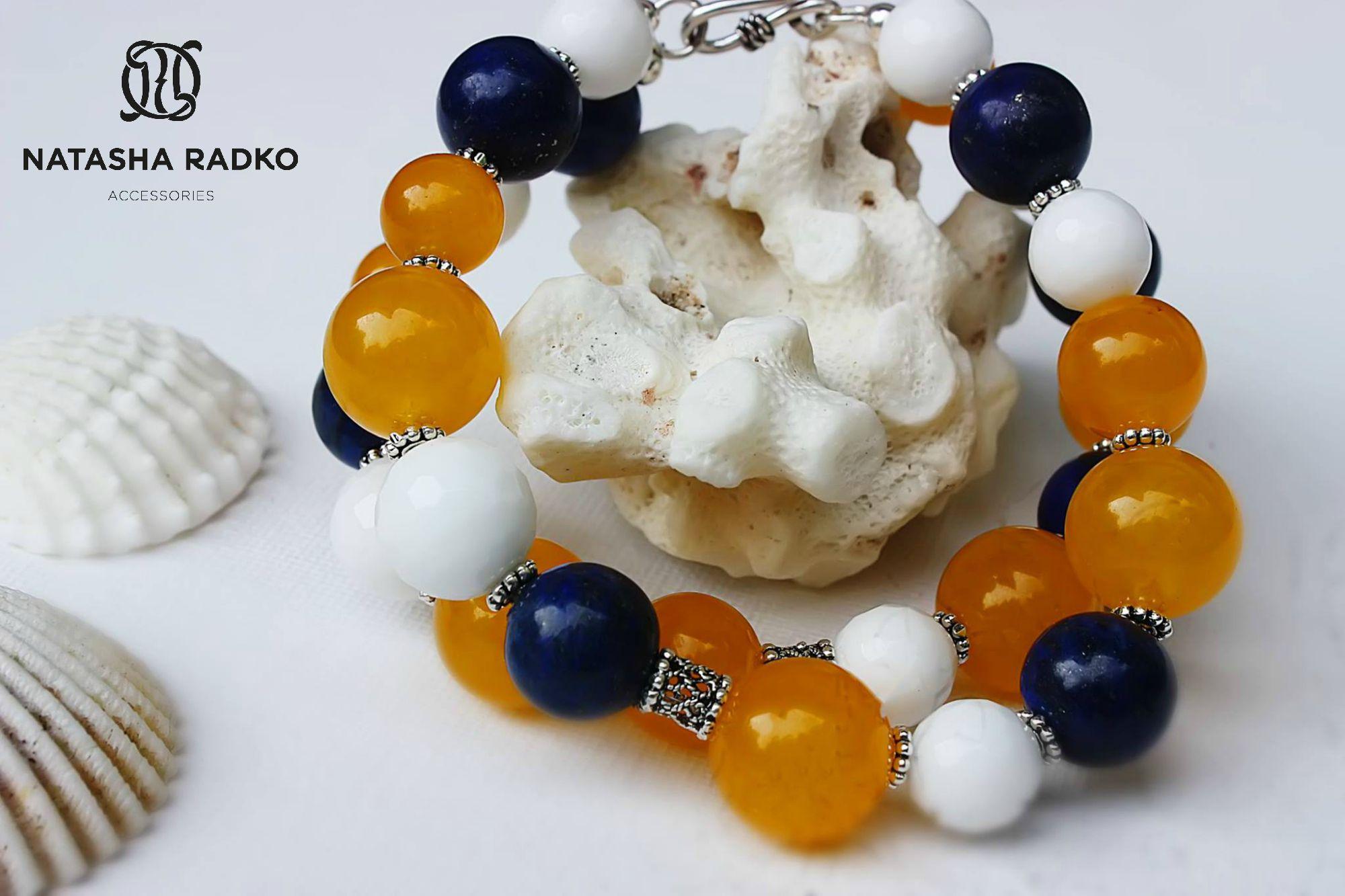 жадеит украшение браслет агат натуральные серебро камни подарок лазурит