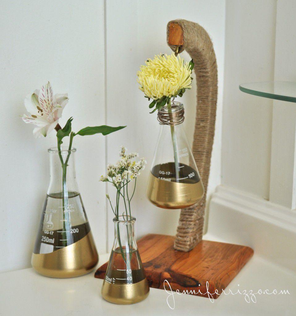 подставки ваза стильная руками своими колбы
