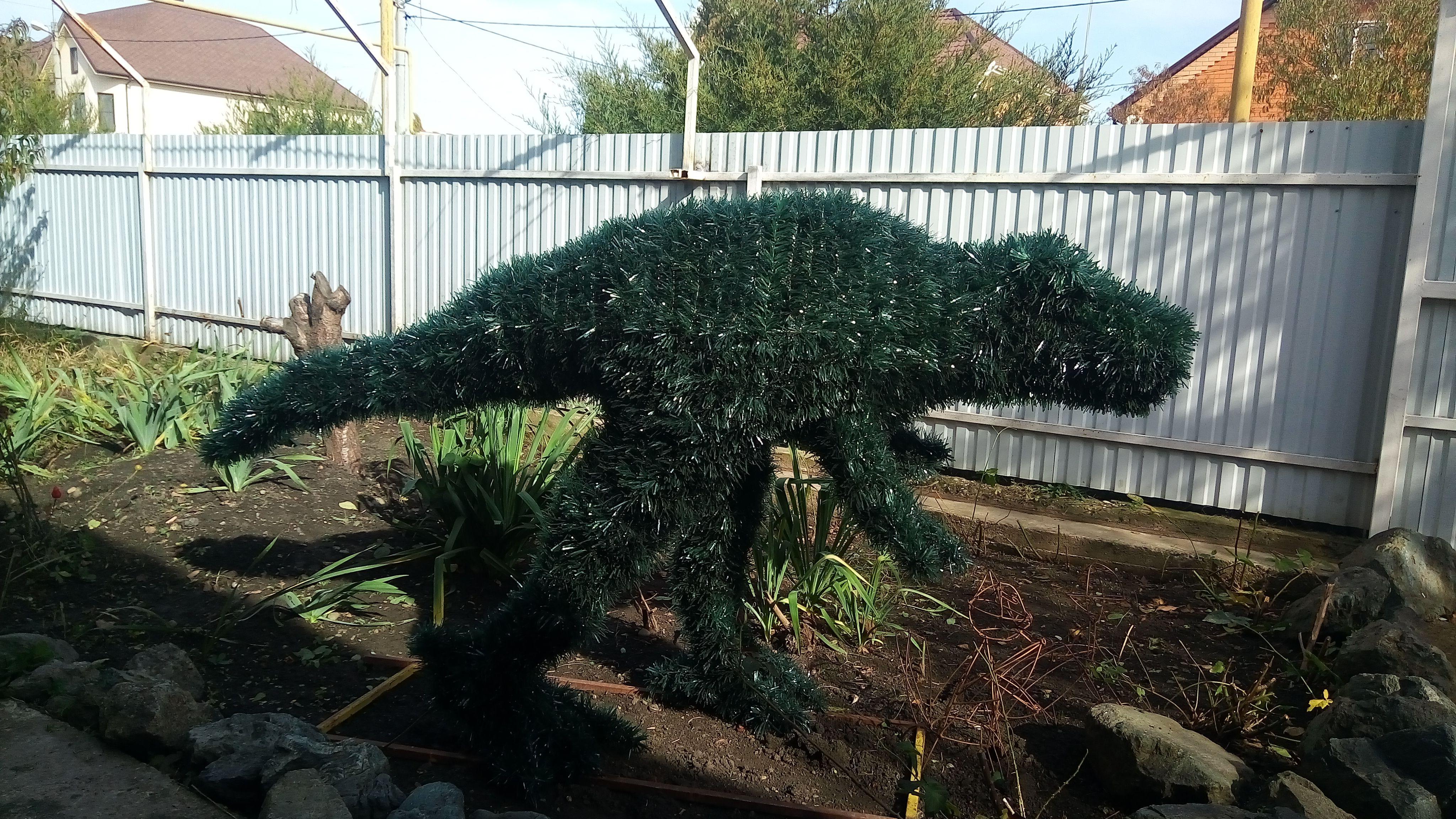 объект подарок дизайн динозавр топиарий арт сад