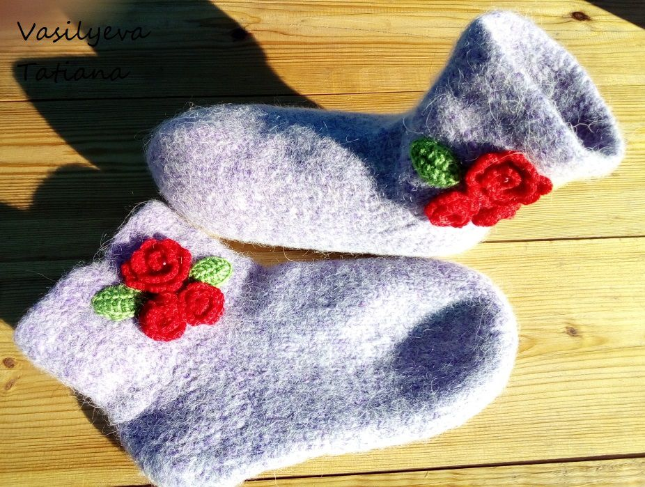обувь сапожки валяные