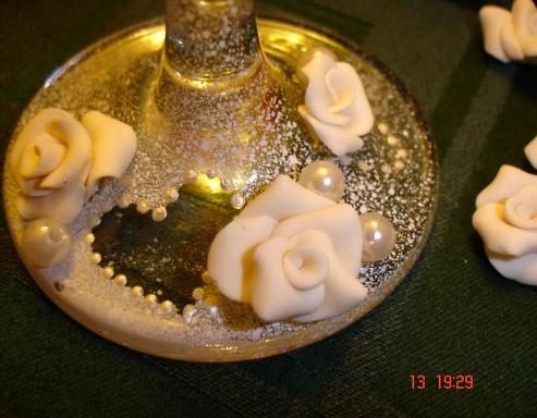 Свадебные бокалы своими руками 7