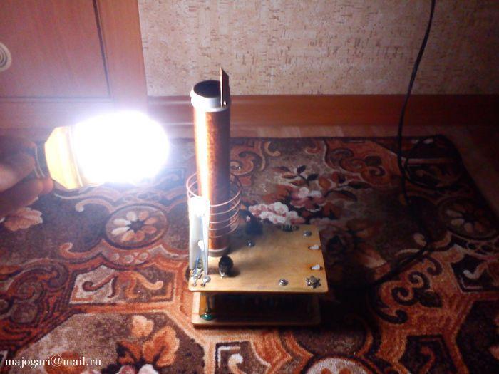 катушка тесла беспроводная электричество