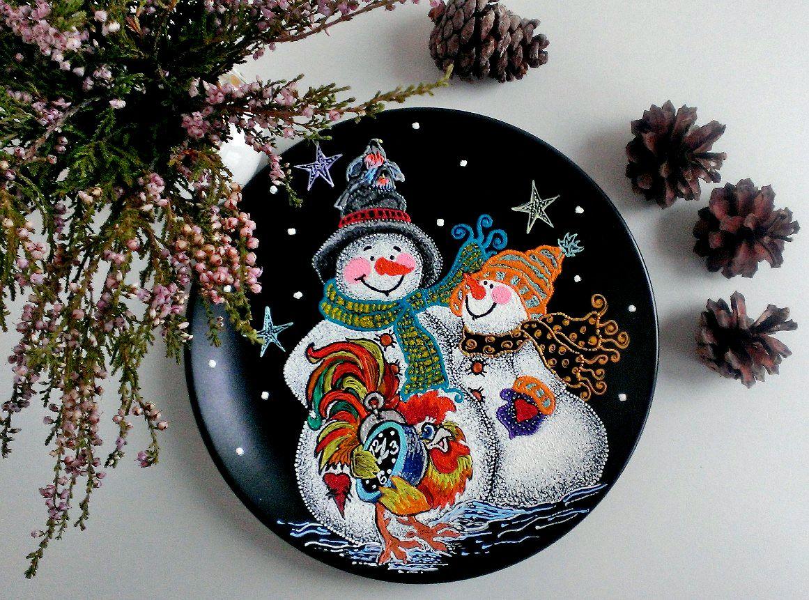 ручнаяработа декор точечнаяроспись pointtopoint cheerfulstore красотавдеталях зима2016 handmade декоративныетарелки подарки