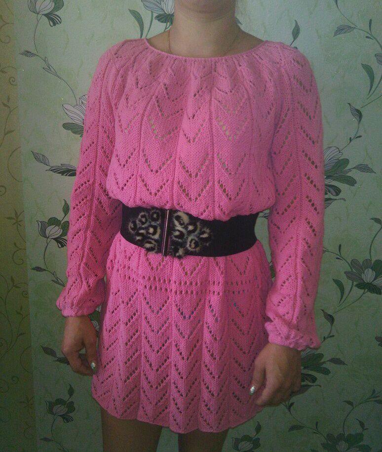 розовое туника платье розовая ажур