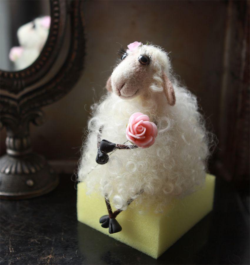 ручнаяработа подарок овечка купить игнушка шерсть100