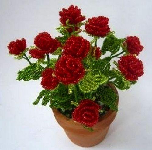 Бисероплетение: цветы 1