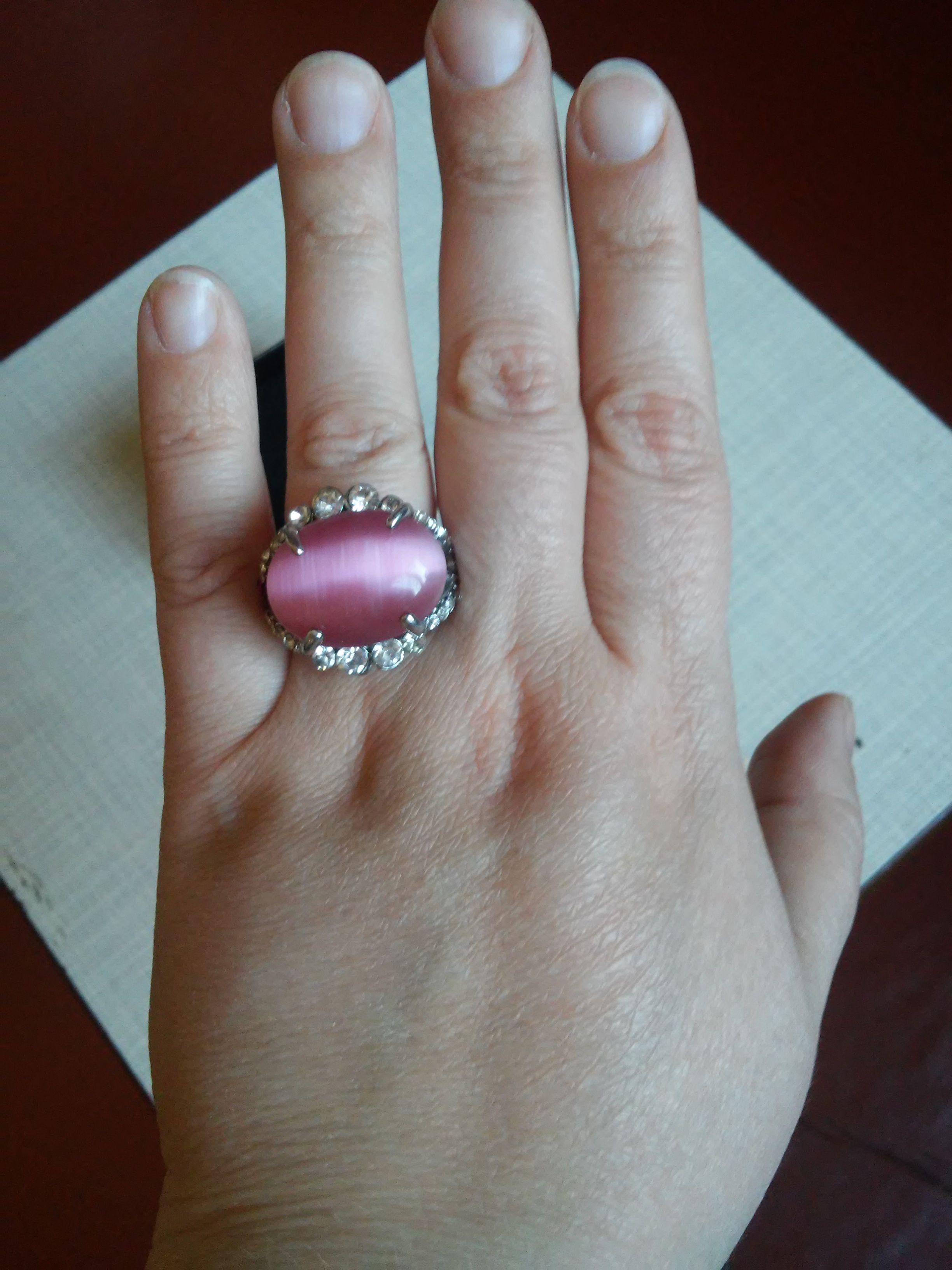 кошачий глаз перстень бижутерия кольцо украшение