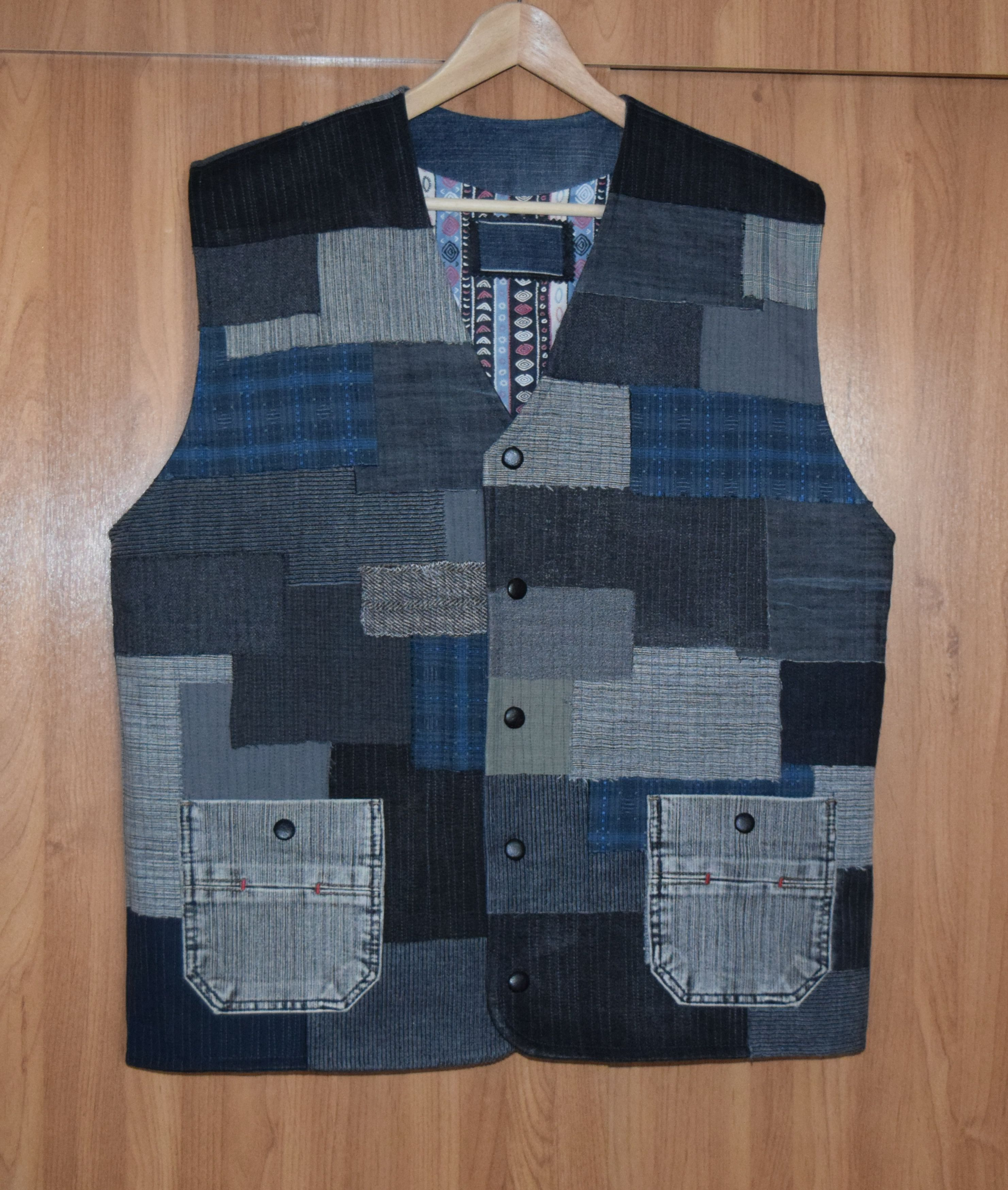 мужской мода джинс кэжуал стиль креатив жилет hendmade купить одежда своимируками