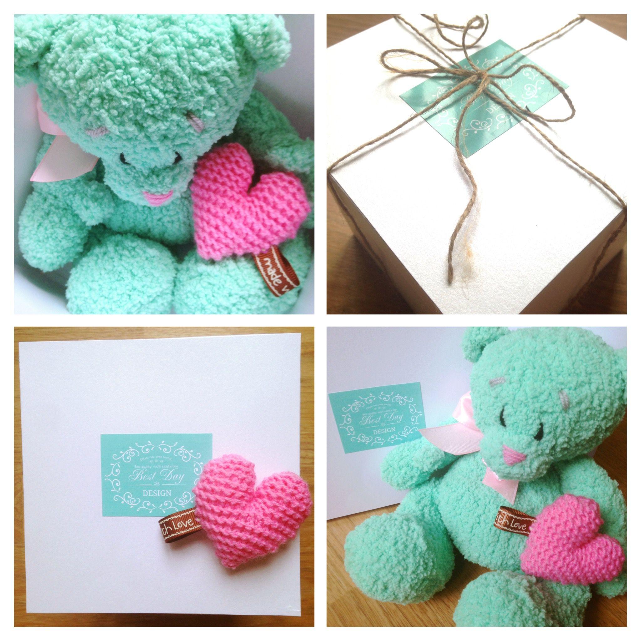 подарокдевочке вязанныймишка подарокмальчику мишка подарок