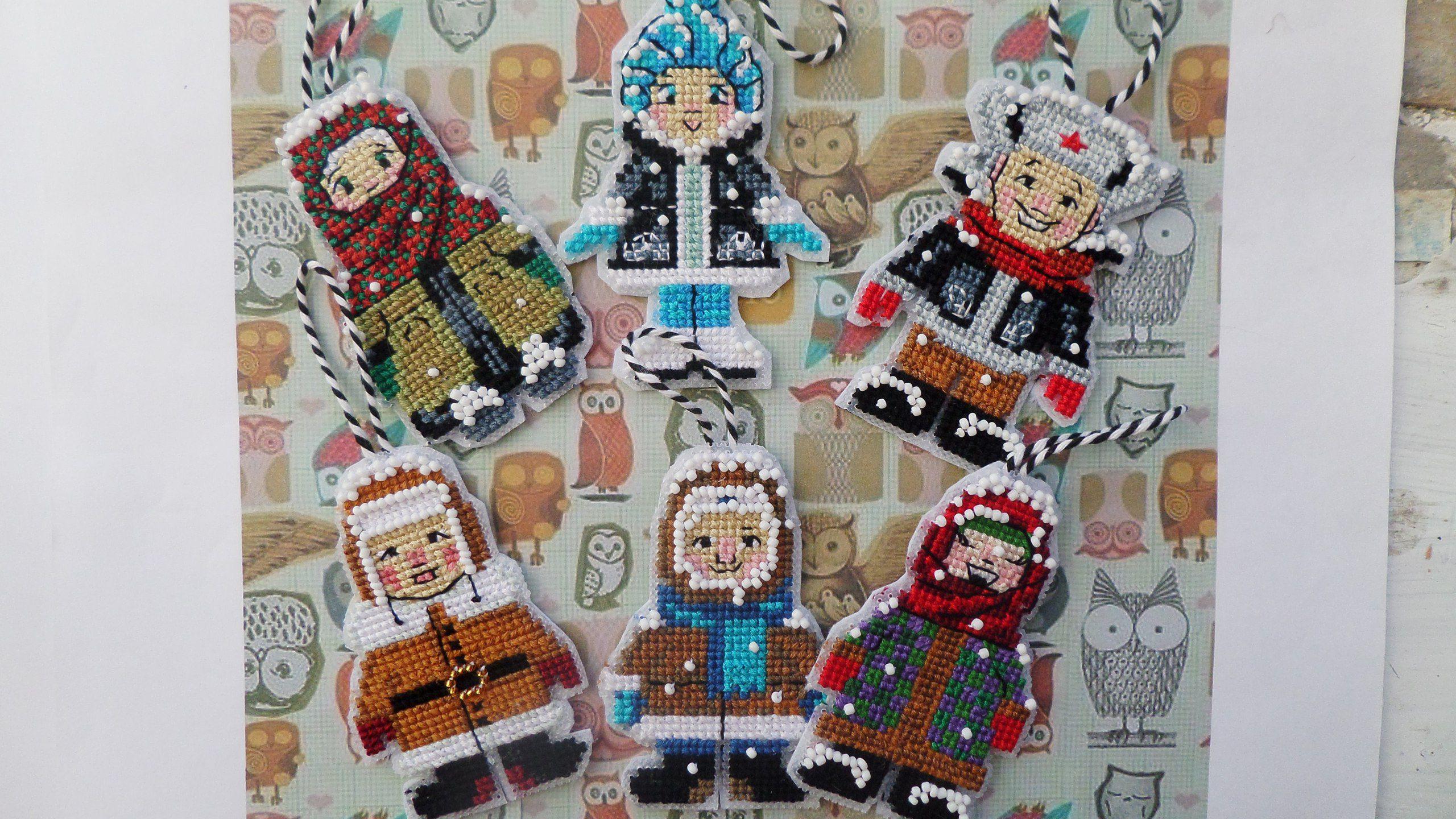 подарки миниатюра красота вышивка новыйгод декор игрушки малыши елочныеигрушки