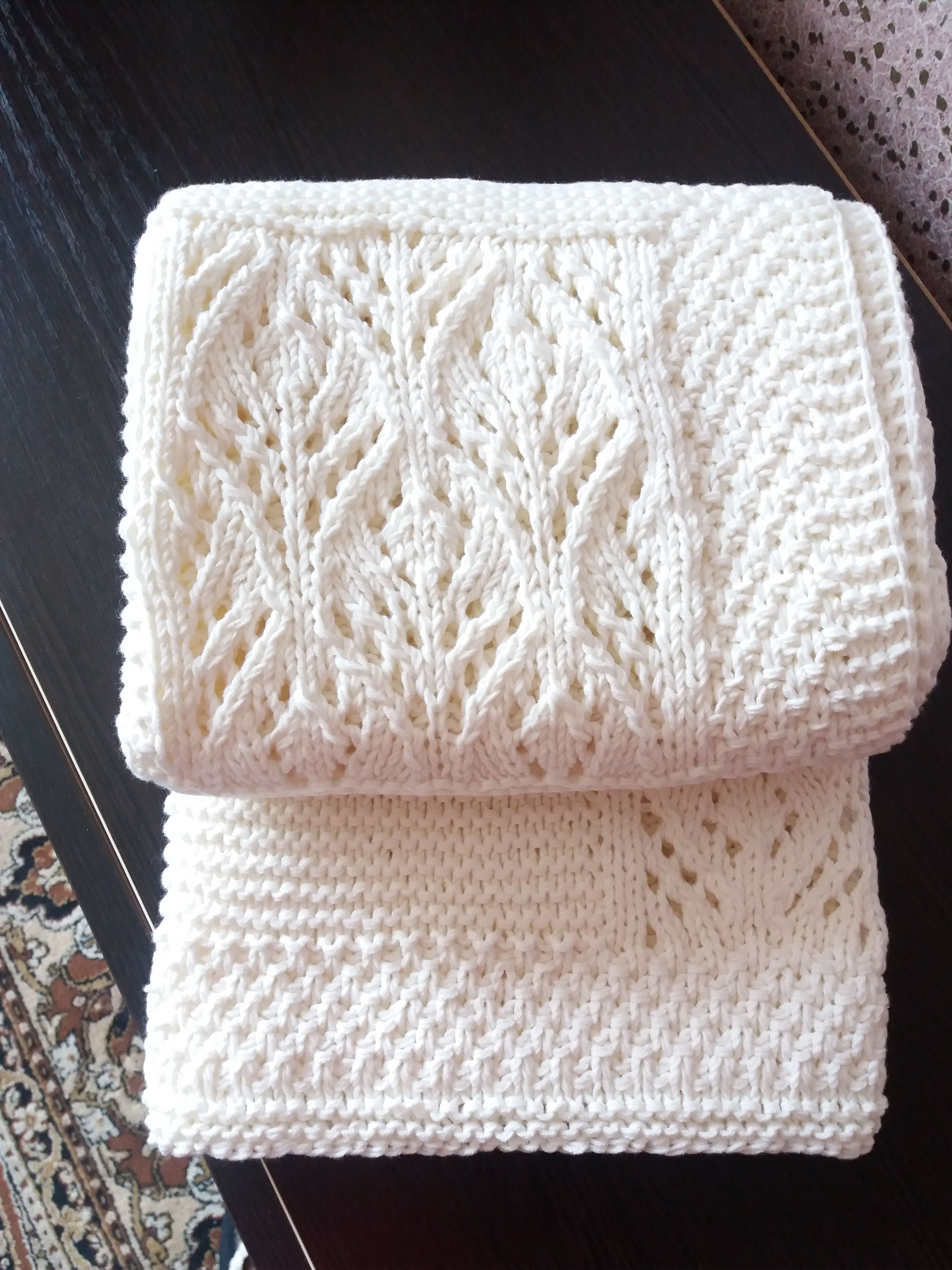 madebynika ручнаяработа handmade вязание изхлопка пледвязаный назаказ спицами новорожденным плед длядетей подзаказ