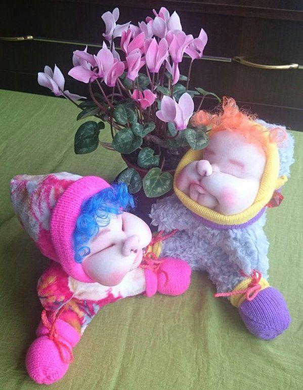 подарок кукла работа ручная скульптурныйтекстиль