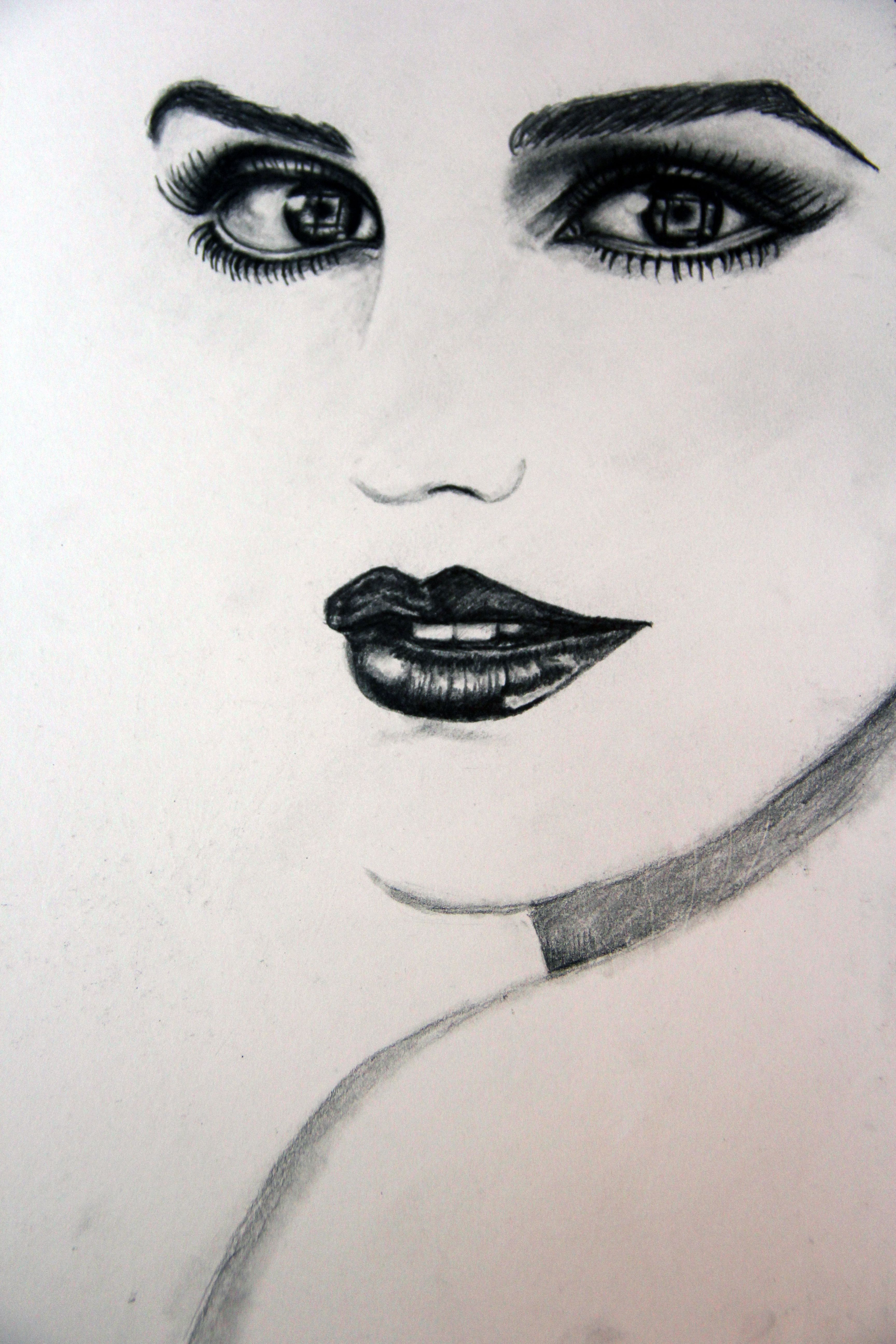 карандашом девушка картины портрет на заказ рисунок подарок