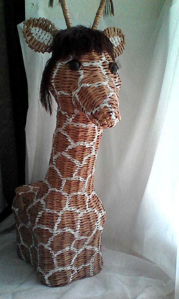 плетеная детской элемент ручной работы декора плетеный подарки шкатулка дизайн интерьерный жираф