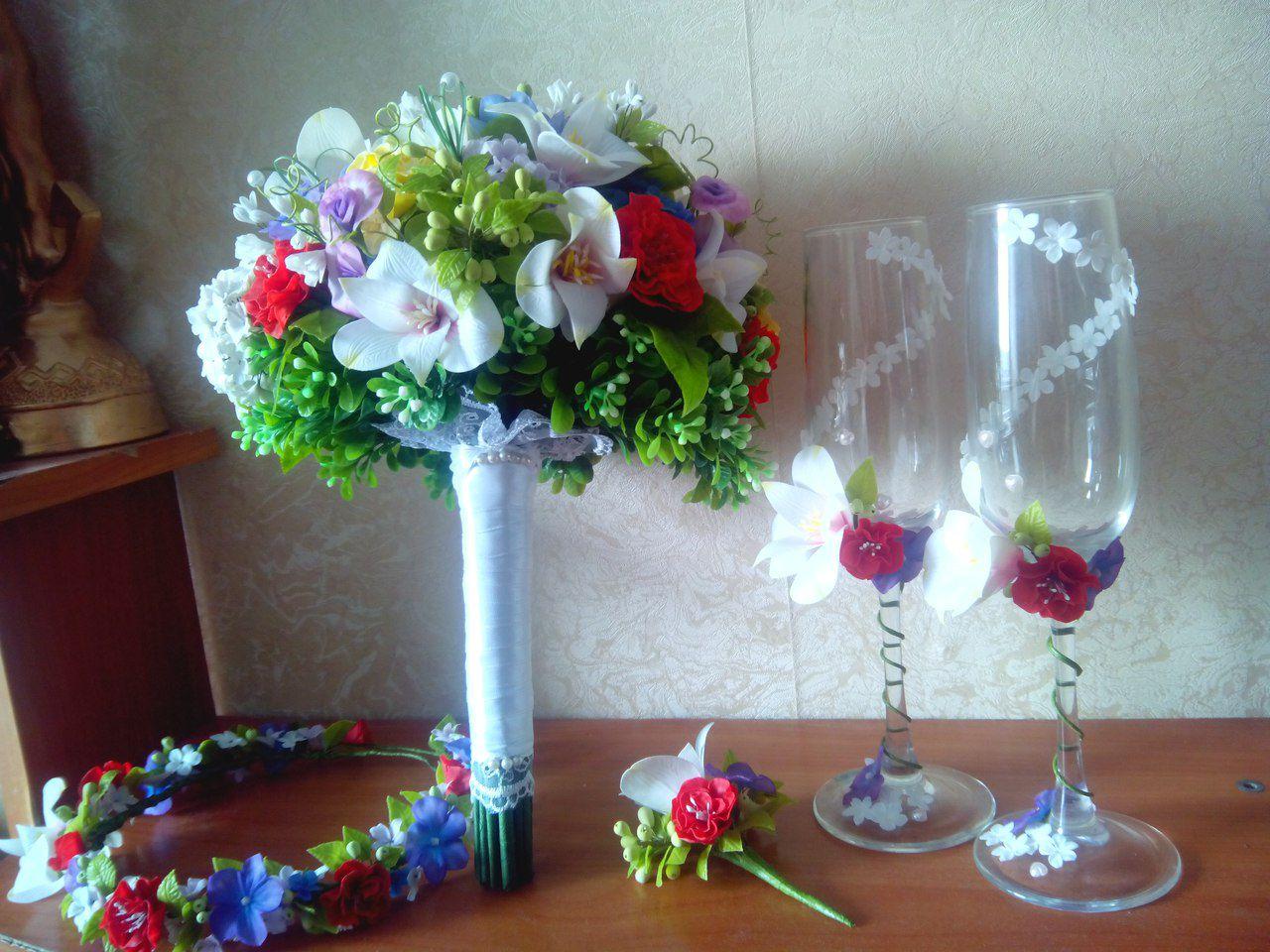 бутоньерка свадебный венчание жених невеста свадьба праздник для невесты букет