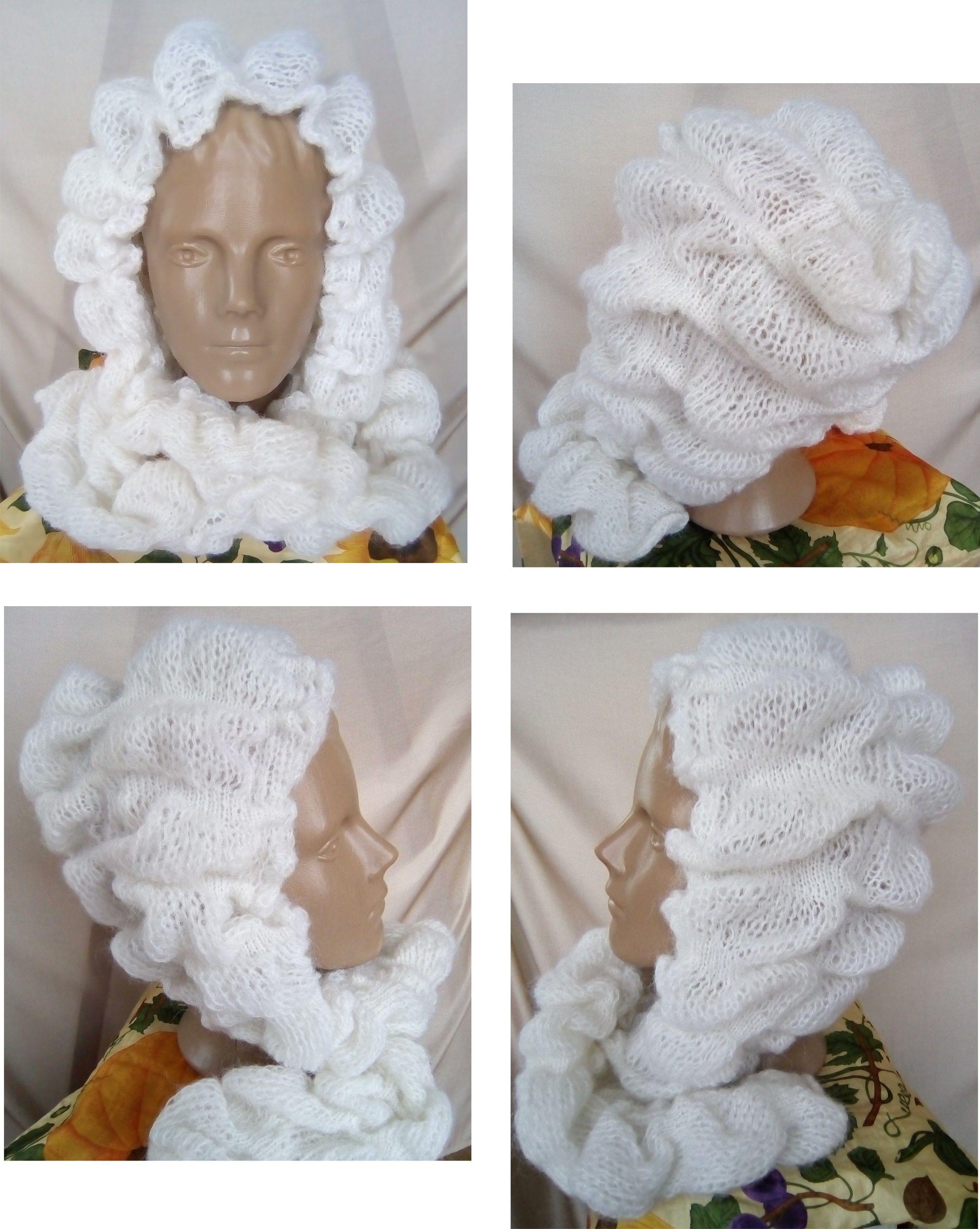 вязаный женщин аксессуар дизайнерская снуд теплая шапка капюшон парик головной убор для шапочка hood wig cap cup knitted зимняя модный кидмохер