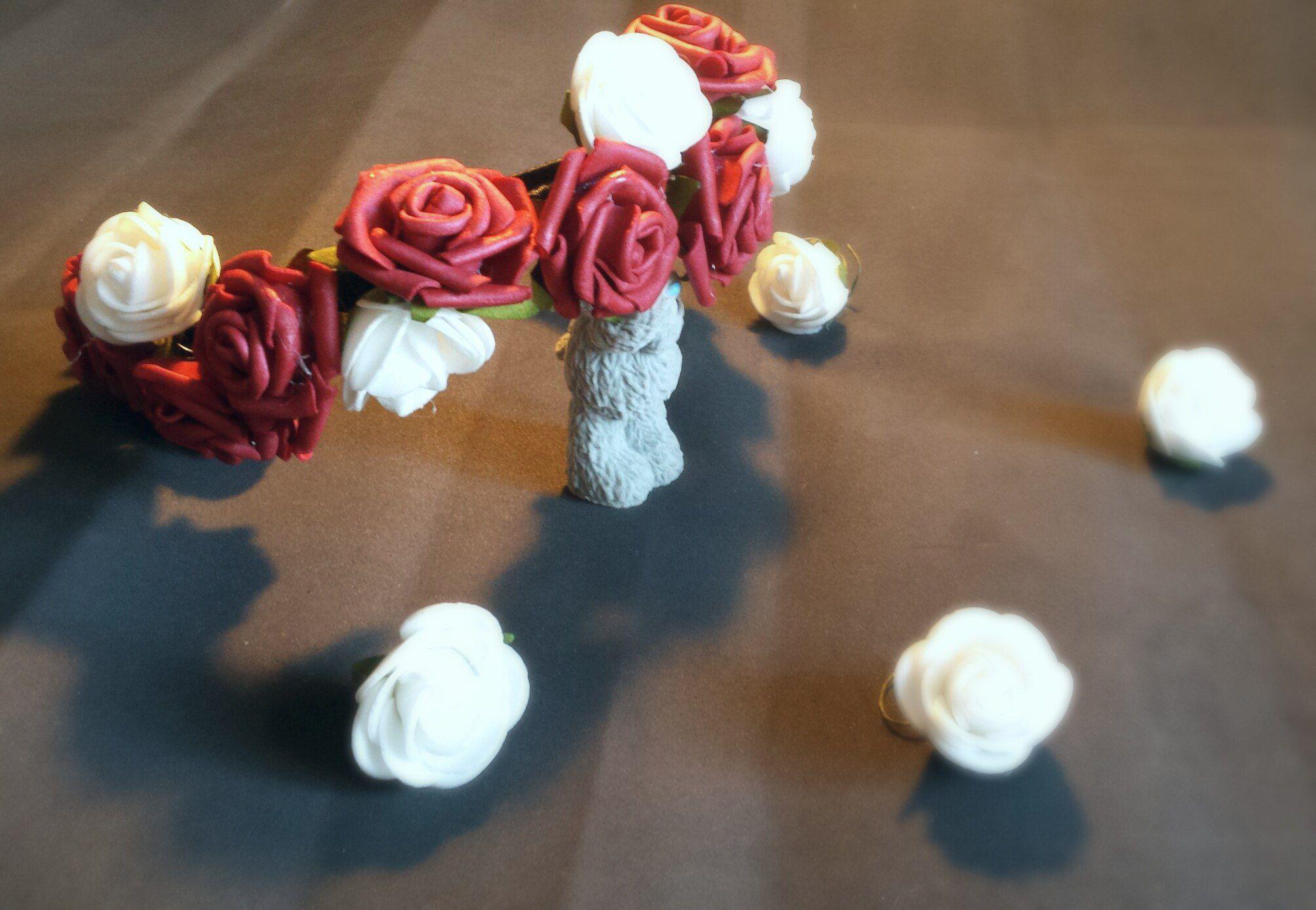 фомиан ободок handmade фом цветы нежность цветок